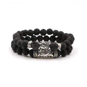 Lava Stone Like Yoga Buddha Fashion Bracelet